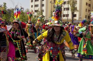 Dia De La Raza celebration in Chile