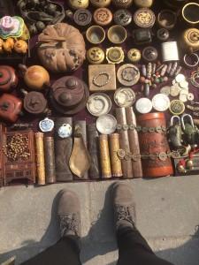 At the Panjiayuan Antique Market.